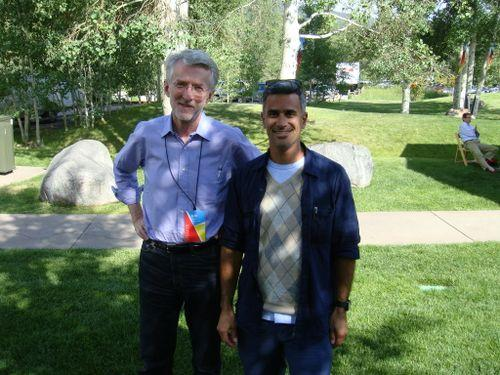 Jeff Jarvis (L) & David Weinrot, Shopzilla Publisher Program (R) at Aspen Ideas Festival