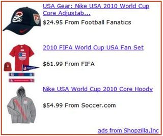 Shopzilla Publisher Program USA World Cup Dynamic Asset