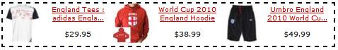 Shopzilla Publisher Program England World Cup Dynamic Asset