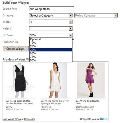 Beso Search Results Widget Builder